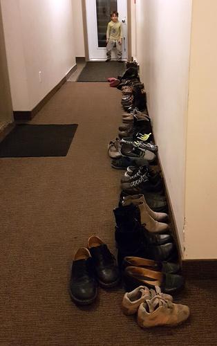Rassemblement de chaussures